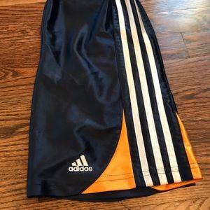 Adidas boys navy/orange/white shorts